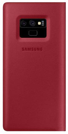 Çexol Samsung Leather Wallet Cover Note 9 Red - Maxi.az
