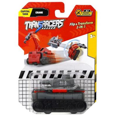 Maşın-transformer TransRacers Flip Vehicle-Road Roller- Detective Car