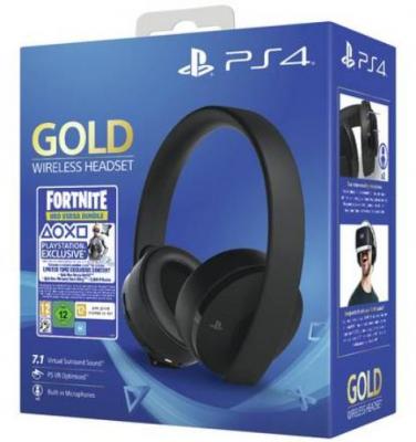 Playstation 4 Gold Wireless Headset Fortnite Neo Versa Bundle (Black)