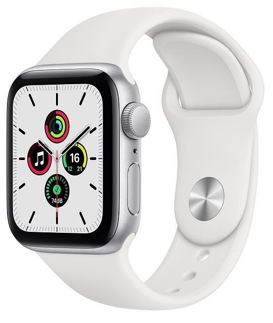 Ağıllı saat Apple Watch SE 40mm Silver Aluminum Case with White Sport Band - Silver - Maxi.az