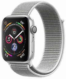 Apple Watch S4 44mm Silver Aluminum Case with Sport Loop (MU6C2ZP)