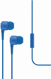 T-Tech J10 In-Ear Headphone with Microphone 3.5mm Blue