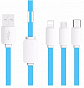 Baseus Cabel USB String 3in1 Micro Type-C Apple 1.2m blue