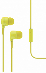 T-Tech J10 In-Ear Headphone with Microphone 3.5mm Yellow