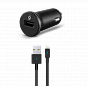 T-tec Compact USB In-Car Charger, 1A, for iPhone,Black