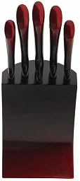 Berlinger Haus Black Burgundy Metallic Line 6 pcs Knife Set with Stand BH 2176