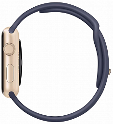 Apple Watch sport 42mm Gold Aluminium - Midnight Blue (MLC72)
