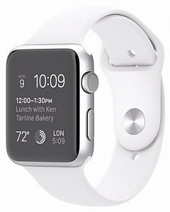 Ağıllı saat Apple Watch S2 42mm Silver - White Sport (MNPJ2) - Maxi.az