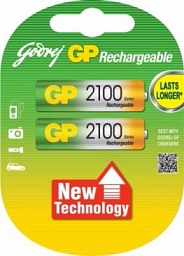 GP Rechargeable battery AA(2) 2100mAh