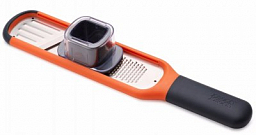Joseph Joseph Handi-Grate 2-in-1 Mini Grater and Slicer, Orange (20048)