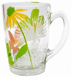 Luminarc New Morning Pop Flowers Green Mug, 320 ml, G4403