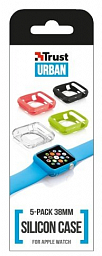 Trust Silicon Case 5-pack for Apple Watch 38mm (20980)