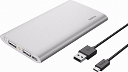 Power Bank Hama Premium Alu 5000 mAh Silver