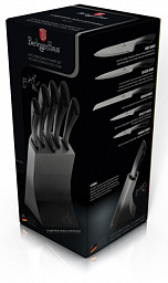 Berlinger Haus Limited Edition 6 Pcs Knife Set with Stainless Steel Stand BH 2177