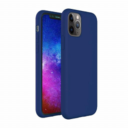 Apple Silicone Case for Iphone 11 Pro Max Dark Electro Blue