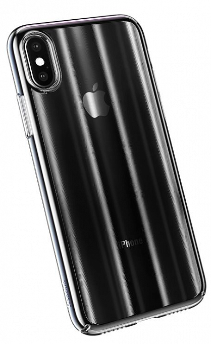 Çexol Baseus Aurora Case для iPhone XS Max Transparent Black (WIAPIPH65-JG01) - Maxi.az
