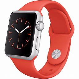 Apple Watch sport 38mm Silver Aluminum - Orange (MLCF2)