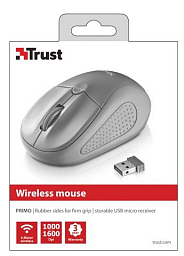 Trust Primo Wireless Mouse - grey (20785)