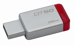 Kingston 32GB USB 3.0 DataTraveler 50 (Metal/Red)