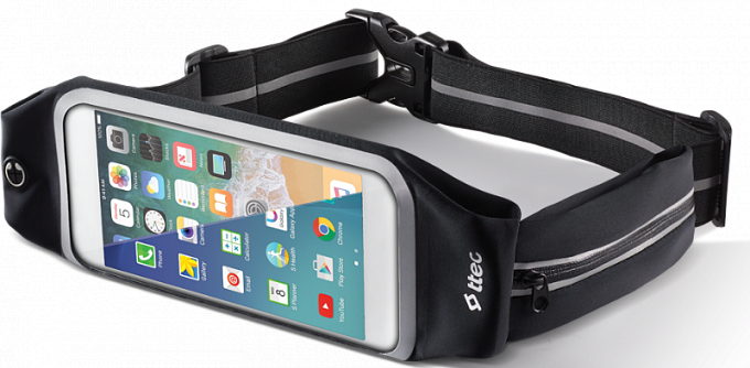 Çexol-kəmər T-tec EasyFit Belt Phone Holder, Black size XL - Maxi.az