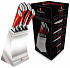Berlinger Haus Passion Collection 6 Pcs Knife Set with Stainless Steel Stand BH-2135