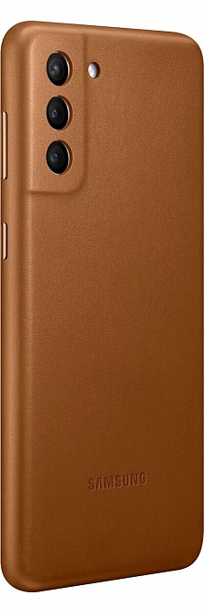 Çexol Samsung Galaxy S21 Plus Leather Cover Brown - Maxi.az