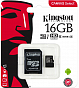 Yaddaş kartı  Kingston 16GB microSDHC Canvas Select 80R CL10 UHS-I Card + SD Adapter - Maxi.az
