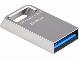 Kingston 64GB DTMicro USB 3.1/3.0 Type-A metal ultra-compact drive