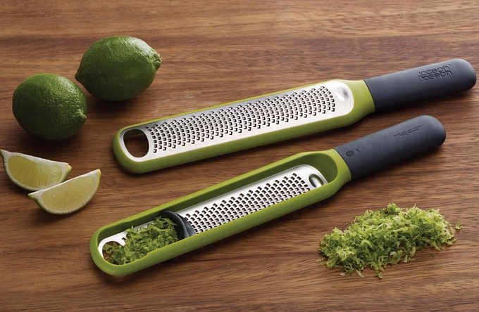 Sürtkəc Joseph Joseph Handi-Zest Multi-Function Zester with Integrated Blade Wiper, Green (20049) - Maxi.az