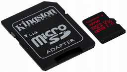 Kingston 32GB microSDHC Canvas React 100R/70W U3 UHS-I V30 A1 + SD Adapter