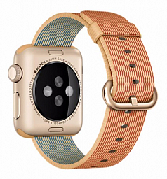Apple Watch sport 38mm Gold Aluminum - Gold/Red Woven Nylon (MMF52LL/A)