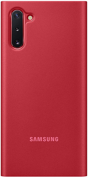 Çexol Samsung Clear View Cover Note10 Red - Maxi.az