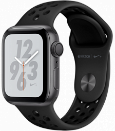 Apple Watch S4 40mm Nike+ 4 GPS 40mm Space Gray Aluminum Case with Black Nike Sport Band (MU6J2)