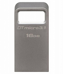 Kingston 16GB DTMicro USB 3.1/3.0 Type-A metal ultra-compact drive