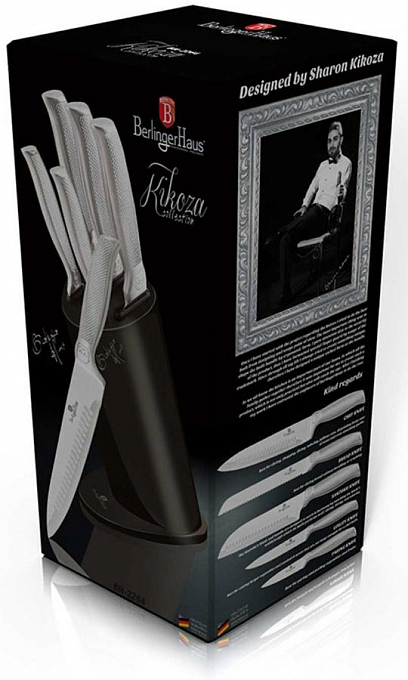 Bıçaq dəsti Berlinger Haus Kikoza Collection 6 pcs Knife Set with Stand BH2264A - Maxi.az