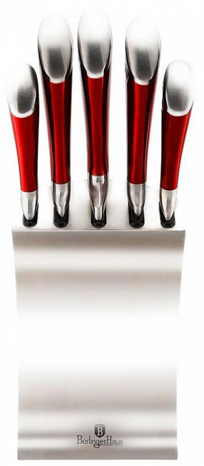 Bıçaq dəsti Berlinger Haus Passion Collection 6 Pcs Knife Set with Stainless Steel Stand BH-2135  - Maxi.az