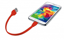 Trust URBAN Flat Micro-USB Cable 20cm - red (20141)