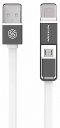 Nilkin Plus Cable (Micro to Lightning) White