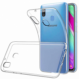 Silicone case Samsung A40 Clear