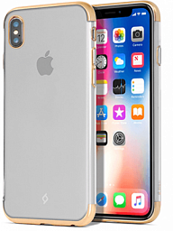 Ttec Chrome Clear Case for Iphone X Gold