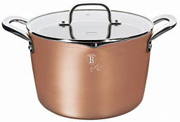 Berlinger Haus Casserole with Lid, 24cm RoseGold Metallic Line BH 1692