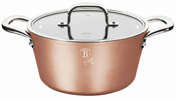 Berlinger Haus Casserole with Lid, 24cm Bronze Titan Collection BH 1689