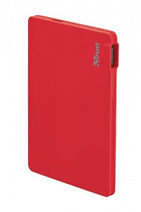 Portativ şarj cihazı (Power Bank) Trust PowerBank 2200T Ultra-thin - red (20913) - Maxi.az