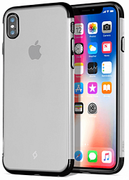 Ttec Chrome Clear Case for Iphone X Black