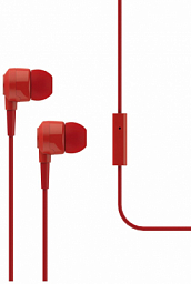 T-Tech J10 In-Ear Headphone with Microphone 3.5mm Red