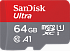SanDisk 64 GB microSDXC UHS-I Ultra A1 + SD adapter SDSQUAR-064G-GN6MA