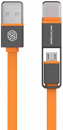 Nilkin Plus Cable (Lightning and Micro) Orange