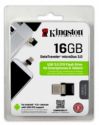 Kingston 16GB  DT MicroDuo USB 3.0 + microUSB (Android/OTG)