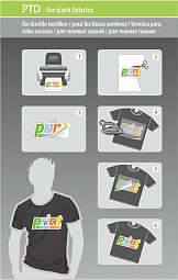 ColorWay Photo paper ART T-shirt transfer (dark) 120g/m, A4, 5pc. (PTD120005A4)