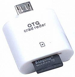 Samsung OTG Micro USB Card Reader white